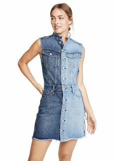 Hudson Jeans HUDSON Women's DIY-Pieced Dress  Blue