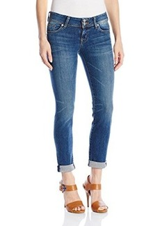 Hudson Women's Ginny Straight Ankle Crop with Cuff Jean