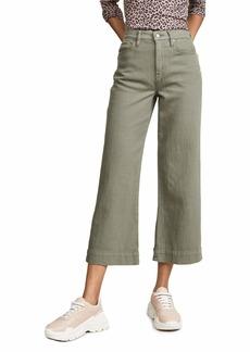 Hudson Jeans HUDSON Women's Holly Wide Leg Crop Pants  Green