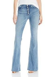 Hudson Women's Jodi High-Waist Button-Front Raw-Hem Five-Pocket Flare Jean