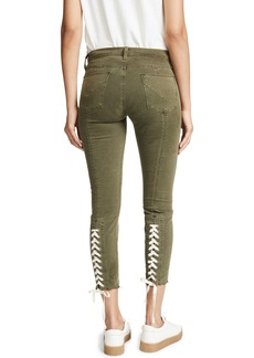 Hudson Jeans HUDSON Women's Nico Lace Up Skinny Pants  Green