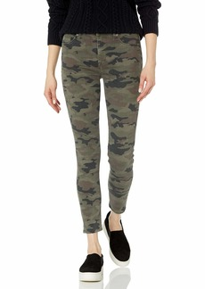 Hudson Jeans HUDSON Women's Nico Mid Rise Super Skinny Ankle Jean Army camo