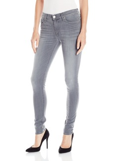 Hudson Jeans Women's Nico Midrise Super Skinny Gray Wash 5 Pocket Jean