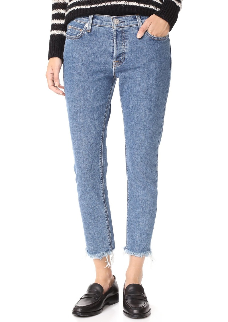 Hudson Jeans HUDSON Women's Riley Luxe Crop Jeans with Raw Hem