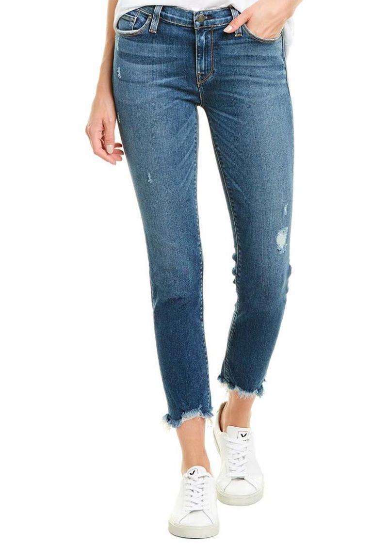 Hudson Jeans HUDSON Women's Tally Mid Rise Cropped Skinny Jean Side bar/W/raw Hem