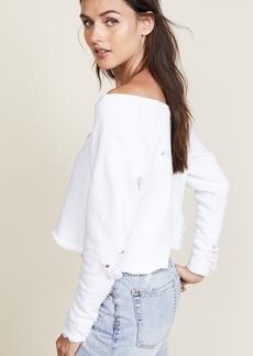 Hudson Jeans Hudson x Baja East Drop Shoulder Cropped Sweatshirt