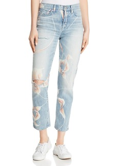 Hudson Zoeey High-Rise Straight Crop Jeans in In Bloom