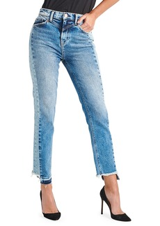 Hudson Jeans Hudson Zoeey High-Rise Straight Cropped Jeans with Front Yoke