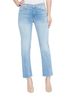 Hudson Zoeey Mid-Rise Crop Straight Five-Pocket Jeans in Aura