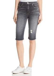 Hudson Jeans Hudson Zoeey Over-the-Knee Denim Shorts in Malice