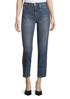 Hudson Zoey High-Rise Ankle Straight-Leg Jeans w/ Side Stripe