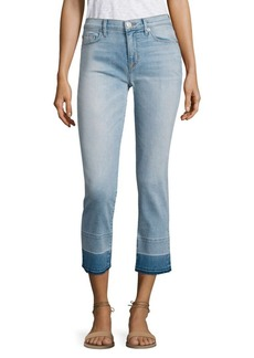 Hudson Zooey Released Hem Cropped Straight-Leg Jeans