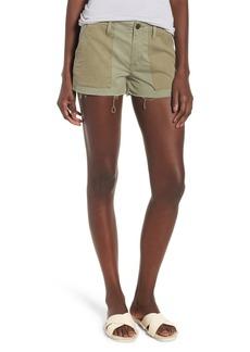Hudson Jeans Jaclyn Cutoff Flight Shorts (Olive Remix)
