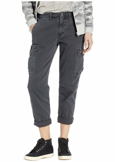 Hudson Jeans Jane Slim Cargo Pants in Distressed Onyx