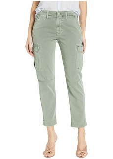 Hudson Jeans Jane Slim Cargo Pants in Distressed Sage