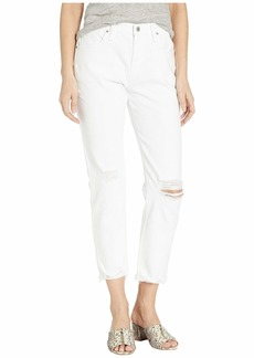 Hudson Jeans Jessi Relaxed Cropped Boyfriend Five-Pocket Jeans in Optic Crush (White)