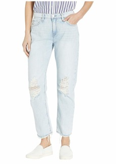 Hudson Jeans Jessi Relaxed Cropped Boyfriend Five-Pocket Jeans in Save Tonight