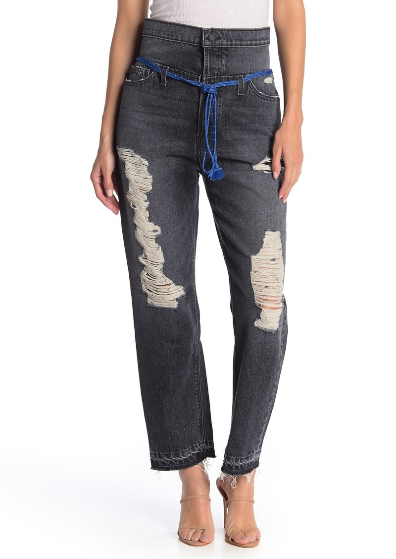 Hudson Jeans Jessi Relaxed High Waist Distressed Jeans