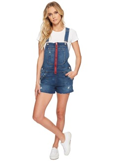 Hudson Jeans Joey Exposed Zip Denim Shortall in War Paint