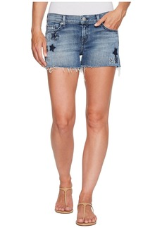 Hudson Jeans Kali Cut Off Star Embroidered Shorts in Stargazing