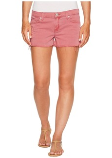 Hudson Jeans Kenzie Cut Off Five-Pocket Shorts in Dusted Orchid