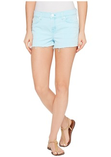 Hudson Jeans Kenzie Cut Off Five-Pocket Shorts in Luminous Blue