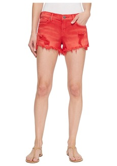 Hudson Jeans Kenzie Cut Off Jean Shorts in Red Alert