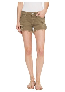 Hudson Jeans Kenzie Cut Off Jean Shorts in Worn Olive