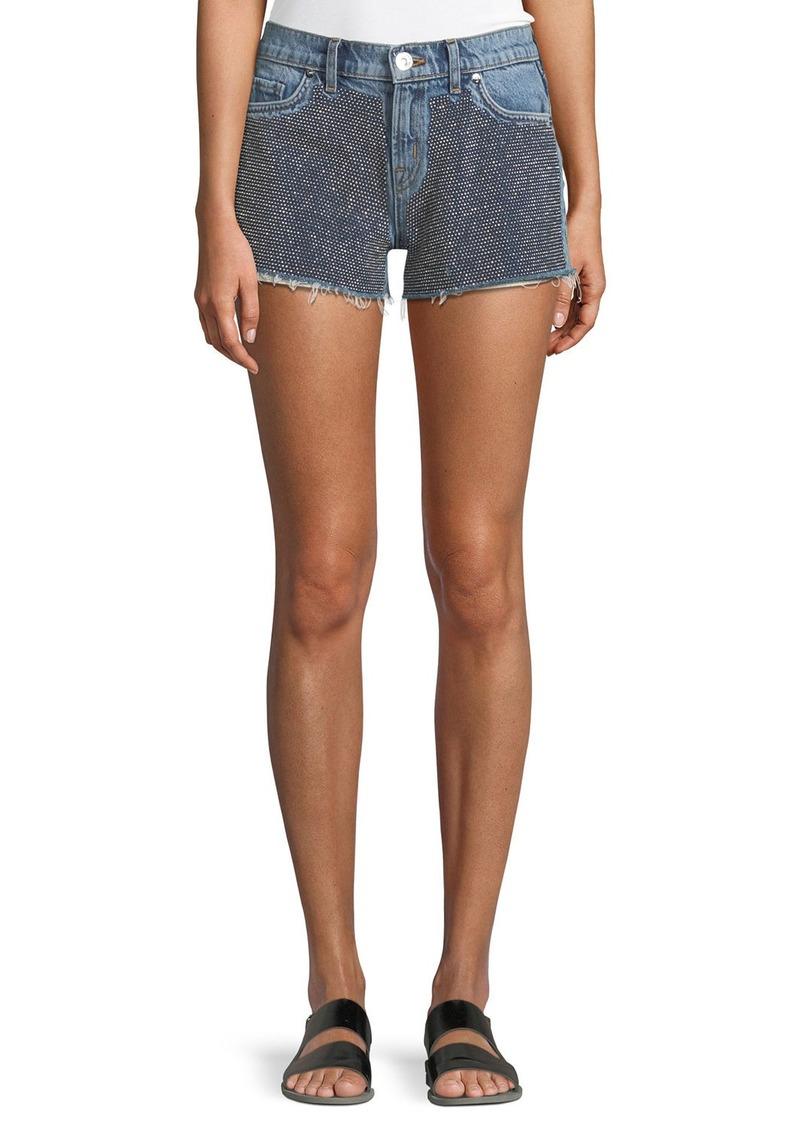 Hudson Jeans Kenzie Studded Cutoff Denim Shorts