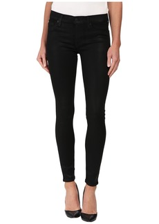 Hudson Jeans Krista Coated Super Skinny Jeans in Noir Coated