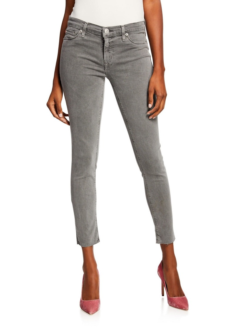 Hudson Jeans Krista Raw-Hem Ankle Skinny Jeans