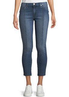 Hudson Jeans Lace-Up Cropped Skinny Jeans