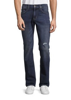 Hudson Jeans Lightly Distressed Straight Leg Jeans