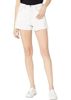 Hudson Jeans Lori High-Rise Cutoffs Shorts in Soft Ecru