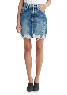 Hudson Jeans Lulu Frayed Denim Pencil Skirt