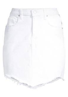 Hudson Jeans Lulu Fringe Hem Denim Skirt