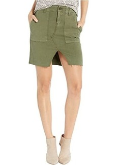 Hudson Jeans Lulu Military Cargo Skirt in Washed Troop