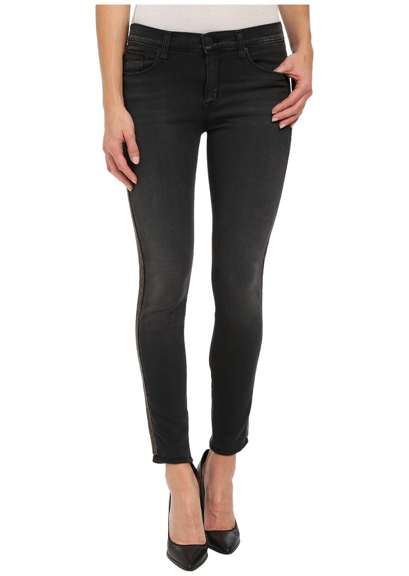 Hudson Jeans Luna Mid-Rise Ankle Super Skinny Insert in Cosmonaut Grey