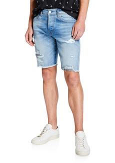 Hudson Jeans Men's Blake Distressed Raw-Edge Cutoff Shorts