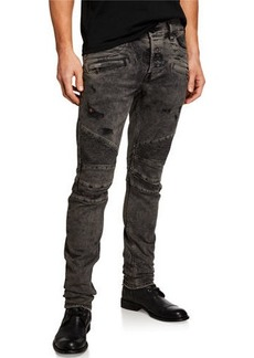 Hudson Jeans Men's Blinder Biker Faded Skinny Jeans