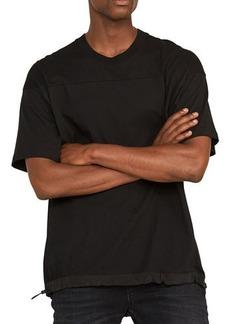 Hudson Jeans Men's Boxy Cotton T-Shirt with Nylon Drawcord Hem