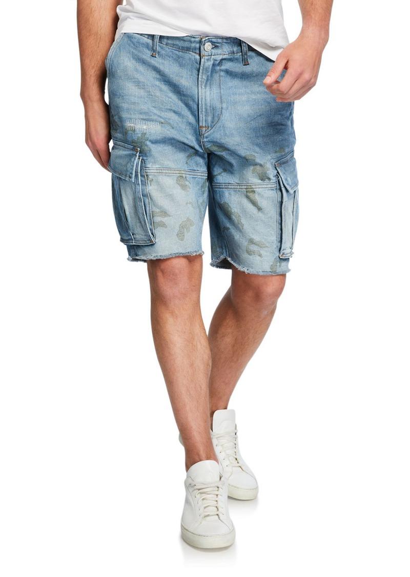 Hudson Jeans Men's Cutoff Denim Cargo Shorts