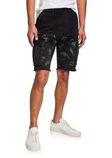 Hudson Jeans Men's Cutoff Denim Cargo Shorts