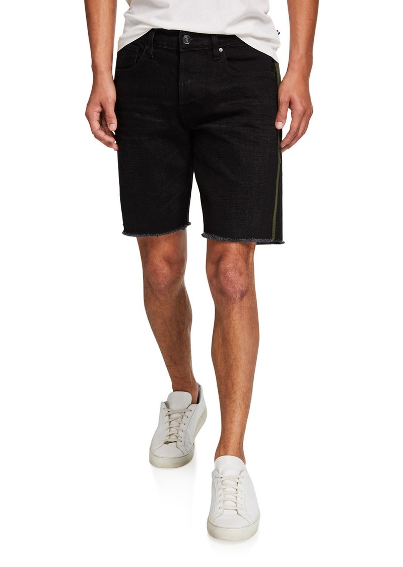 Hudson Jeans Men's Cutoff Denim Shorts w/ Side Stripe