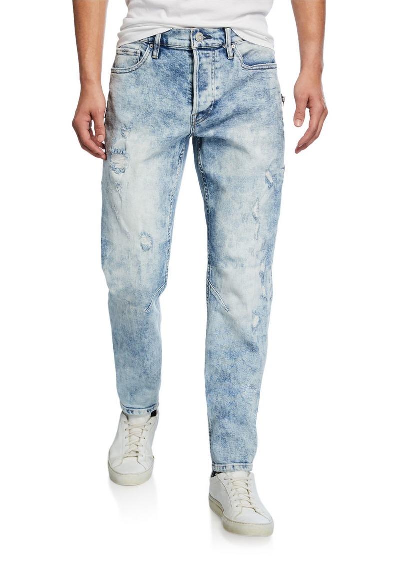 Hudson Jeans Men's Sartor Acid-Wash Distressed Jeans
