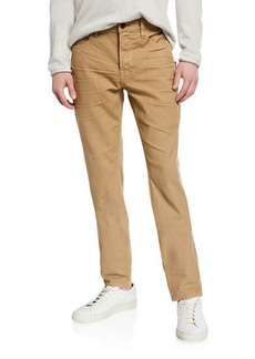 Hudson Jeans Men's Sartor Relaxed Skinny Twill Pants