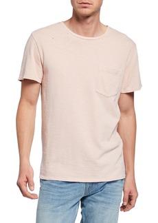 Hudson Jeans Men's Solid Crewneck Pocket T-Shirt