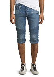 Hudson Jeans Men's The Blinder Biker Denim Shorts