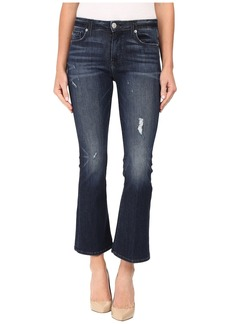 Hudson Jeans Mia Crop Flare in Electric Clover Destructed