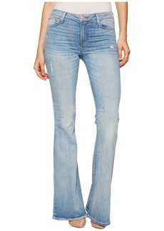 Hudson Jeans Mia Five-Pocket Mid-Rise Flare Jeans in Aura